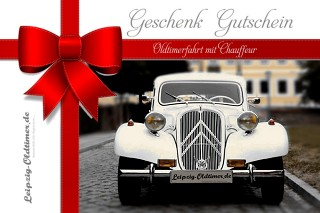 Geschenkgutschein Erlebnis Oldtimerfahrten Leipzig