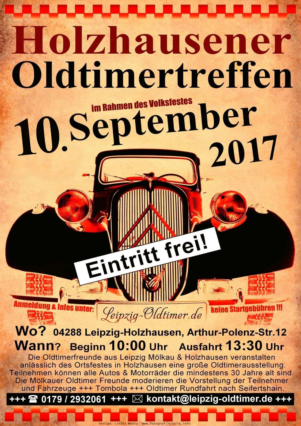 Plakat zum Oldtimertreffen in Leipzig 2017
