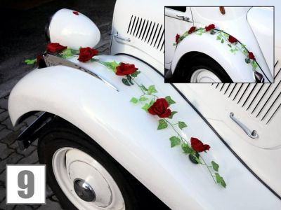 Leipzig Oldtimer Hochzeit Autoschmuck 1j