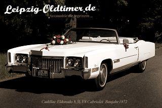 Amerikanisches Cadillac Eldorado Cabrio als Hochzeitsauto in Leipzig mieten (Leipzig US CAR Vermietung)