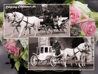 Leipzig-Oldtimer.de - Hochzeitsfahrzeuge-Vermietung: Weiße Hochzeitskutsche mieten